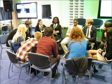 Members of the Youth Forum debate internet safety